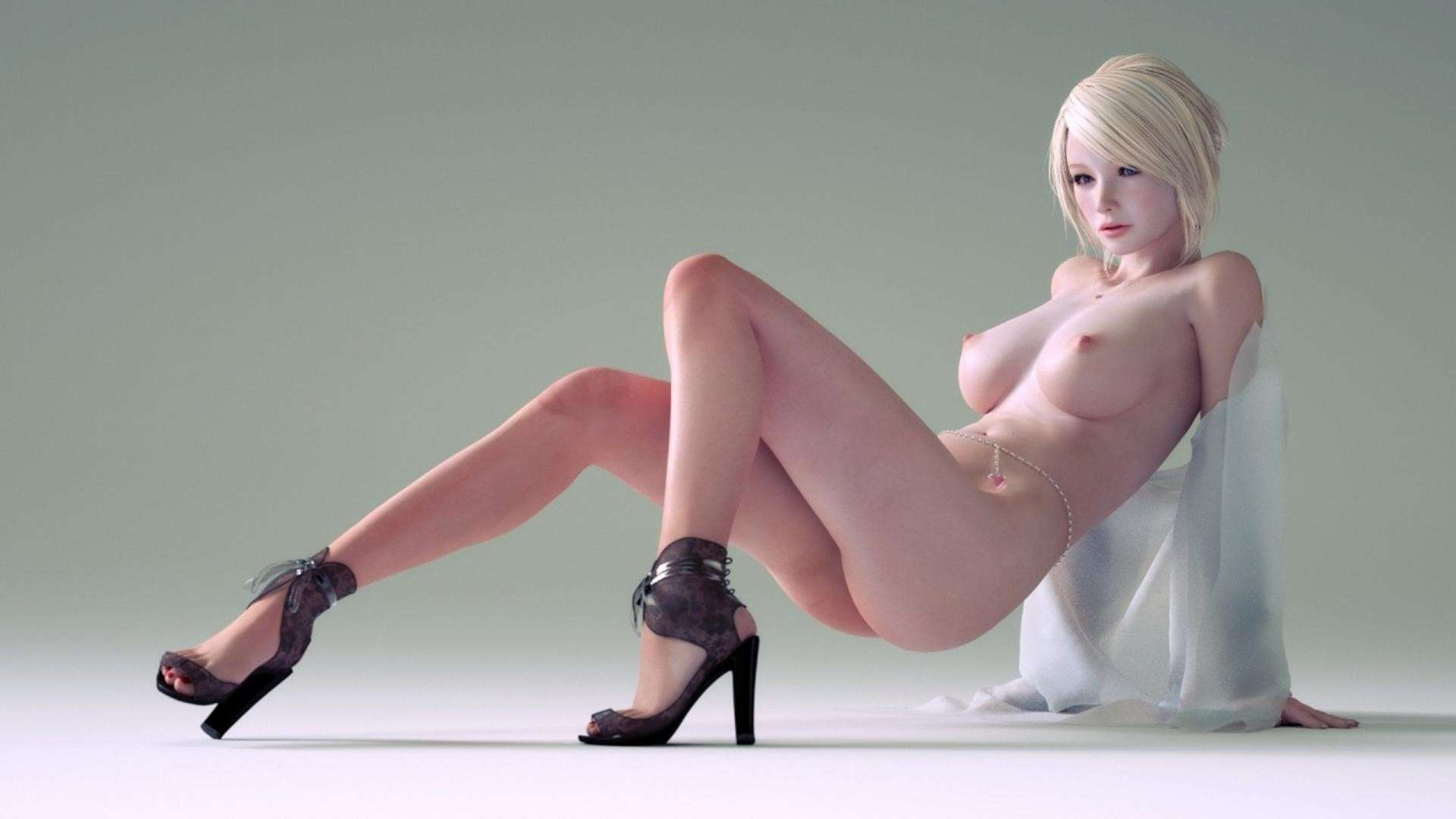 Hentai 3d wallpaper 3D Blonde Girl Wallpaper